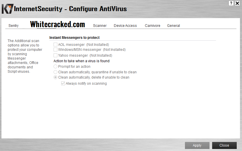 K7 Internet Security key